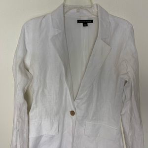 White linen blazer Boston Proper